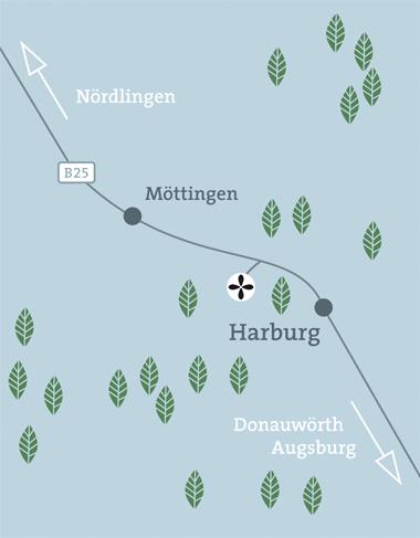 Anfahrt Waldruh Harburg