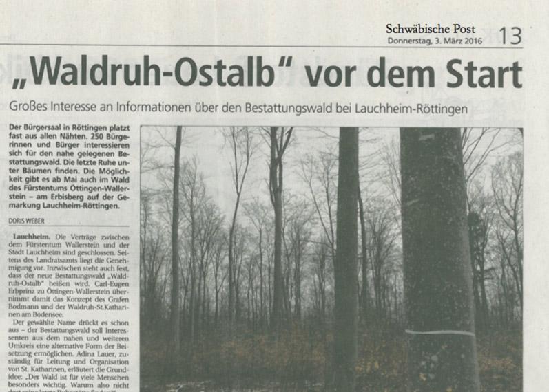 Waldruh Ostalb vor dem Start