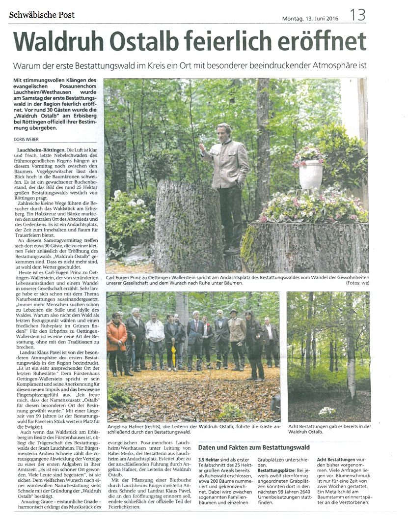 Waldruh Ostalb feierlich eröffnet_SchwäPo_160613